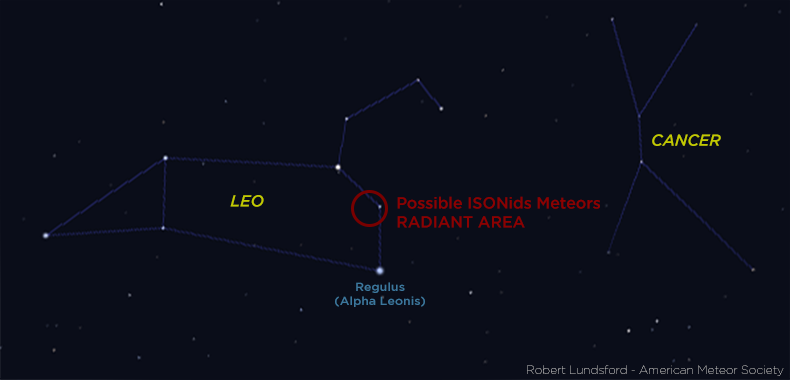 Chart via Robert Lunsford and the American Meteor Society.