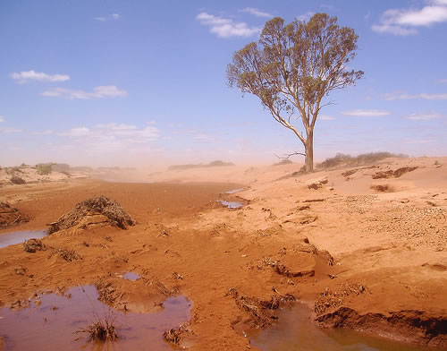 Australia drought photo from 2008, via GreenPacks