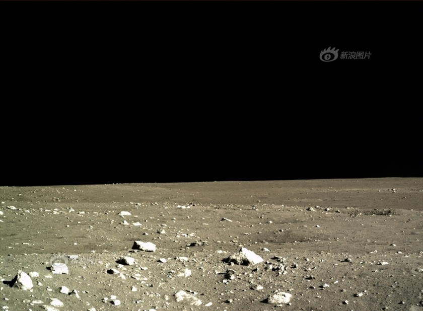Chang'e has this view of the lunar surface. Image acquired December 15, 2013. Chinese Academy of Science photo via the Planetary Society.