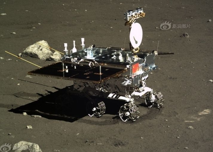 "Chinese moon rover Yutu (""Jade Rabbit"")."