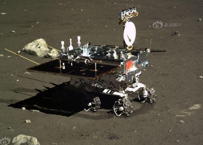 """Chinese moon rover Yutu (""""Jade Rabbit"""")."""