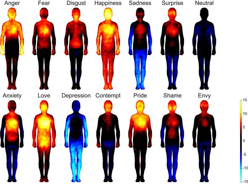 Where we experience emotions in our bodies