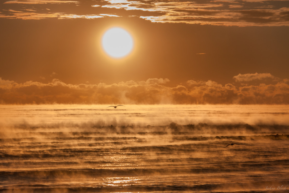 Photo taken January 4, 2014 by Joshua Blash in New Hampshire, who called this sea mist an