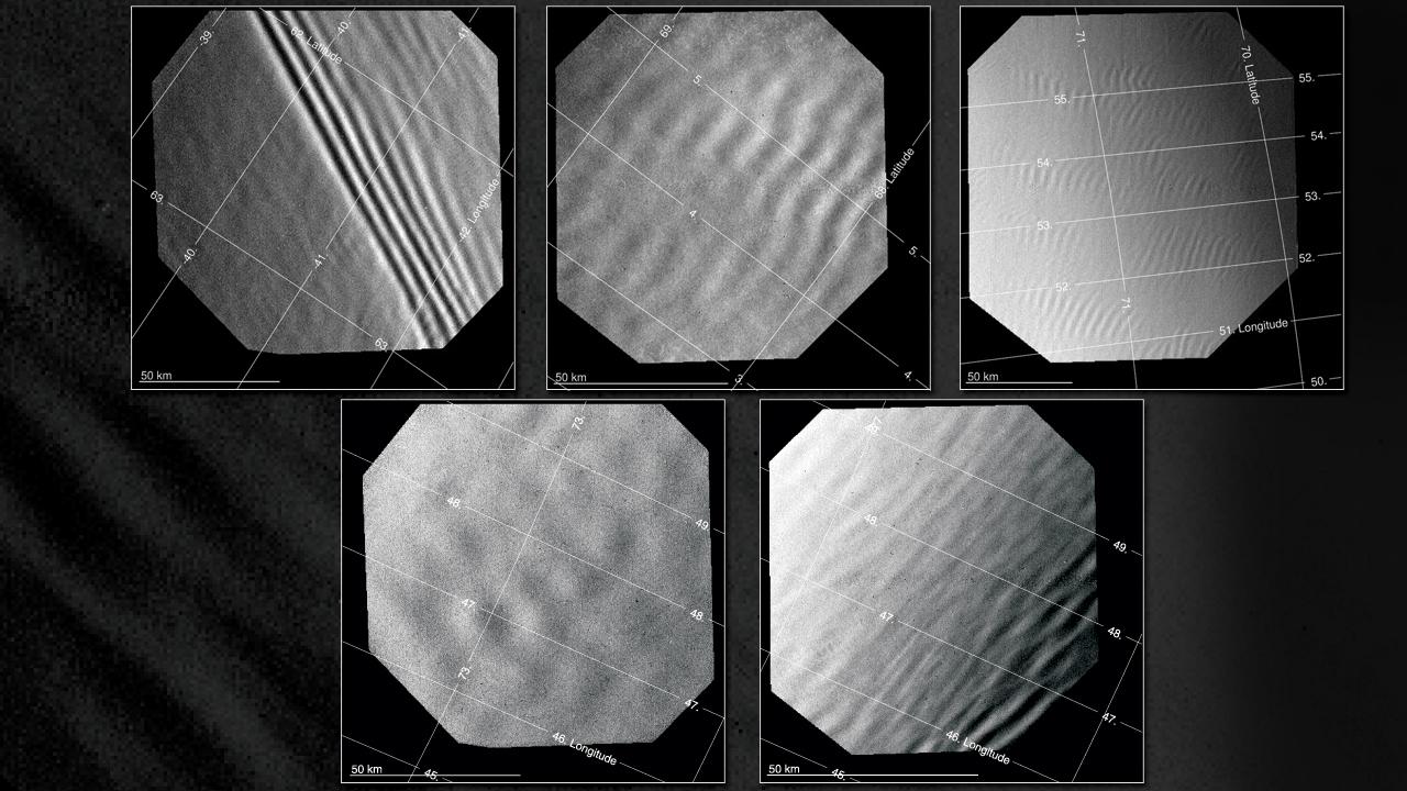 View larger. | Waves in atmosphere of Venus via Venus Express