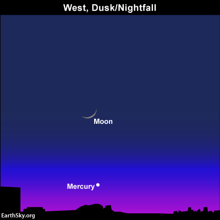 Catch young moon and Mercury after sunset February 1 Read more