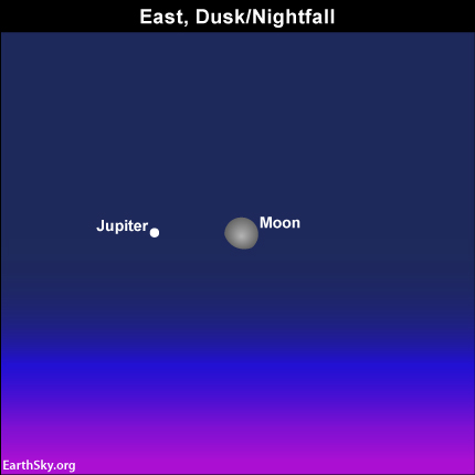 Waxing moon and Jupiter pair up on February 10 Read more