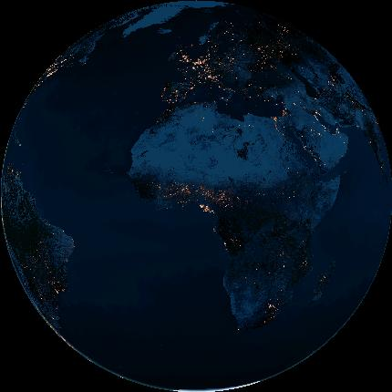 A simulation of the new Earth as seen at the instant of the February full moon (14 January at 23:53 Universal Time). Image credit: Earth and Moon Viewer