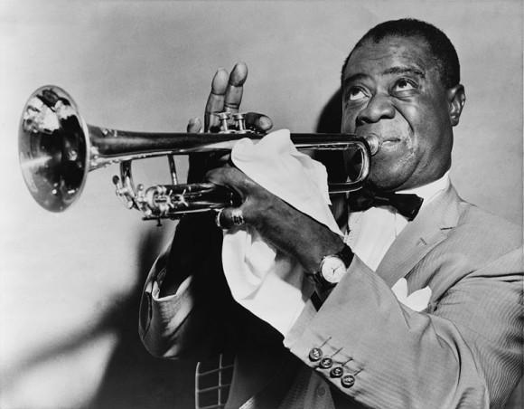 Legendary jazz musician Louis Armstrong.