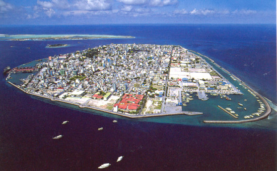 This is Male, capital of the Maldives.  According to the BBC: