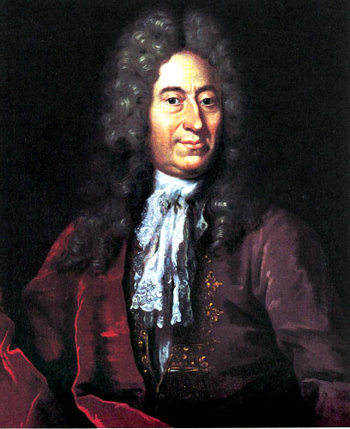 Painting of Ole Romer (1644-1710) by Jacob Coning.