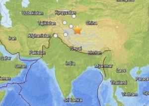 Earthquake in western China February 12, 2014