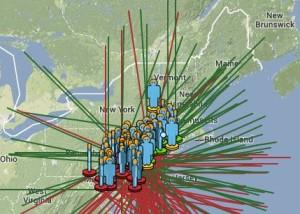 Fireball seen over U.S. East last night.