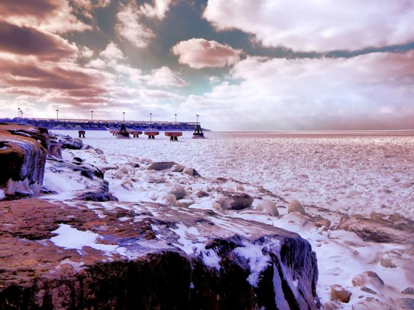 EarthSky Facebook friend Alan F. Mitan Jr. posted this image this week of ice on Lake Erie.  Thank you, Alan!