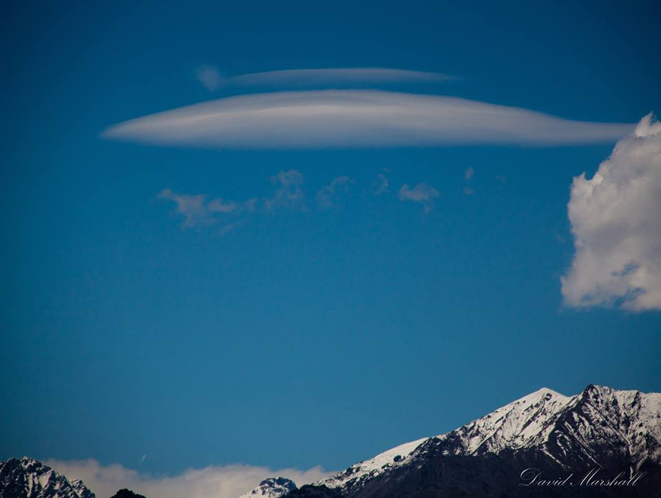 David Marshall captured this lenticular cloud above the Alps in northern Italy.