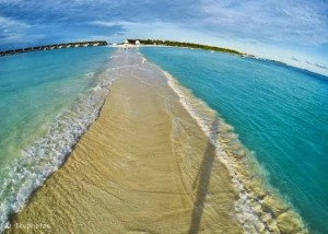 Natural walkway in the Maldives