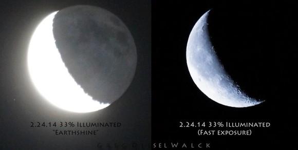 February 24, 2014 moon via GregDiesel Landscape Photography.