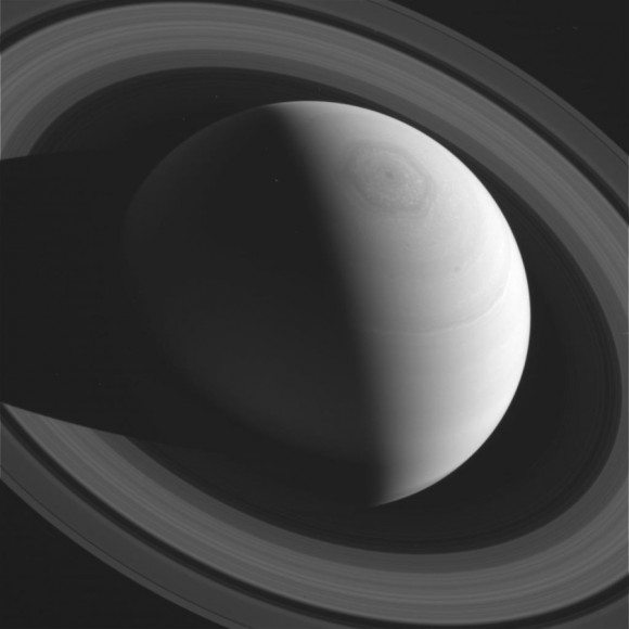 Saturn as captured by the Cassini spacecraft in early February 2014.  Cassini has been in orbit around Saturn since 2004.  Many awesome images!