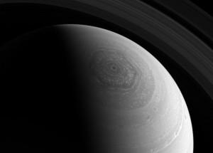 Saturn hexagon via Cassini