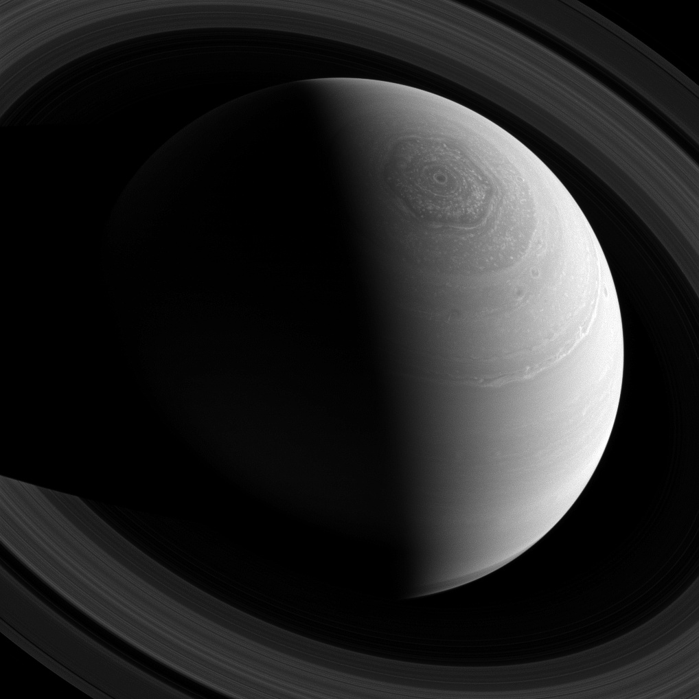 View larger.   Via the Cassini spacecraft, which has been orbiting Saturn since 2004.