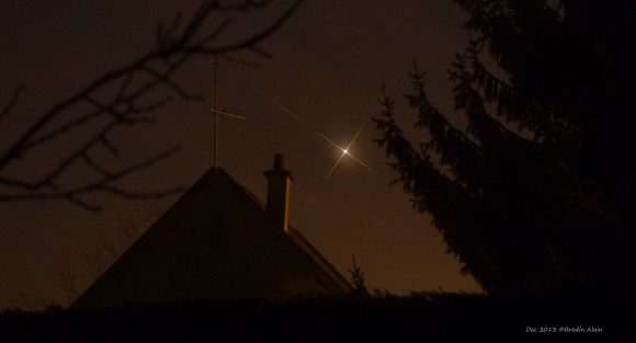 Venus on December 3, 2013 as seen by EarthSky Facebook friend Brodin Alain.