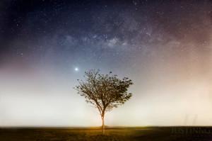 Single-exposure of Venus and Milky Way by Justin Ng.