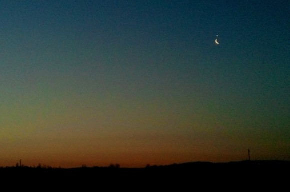 Alex Andru caught Venus and the moon on February 26 from Romania.