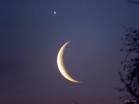 Vesa Taalikka took this photo of Venus and the moon on February 26.