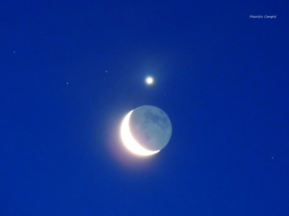 Maurizio Campisi got this beautiful shot of the moon and Venus on February 26.