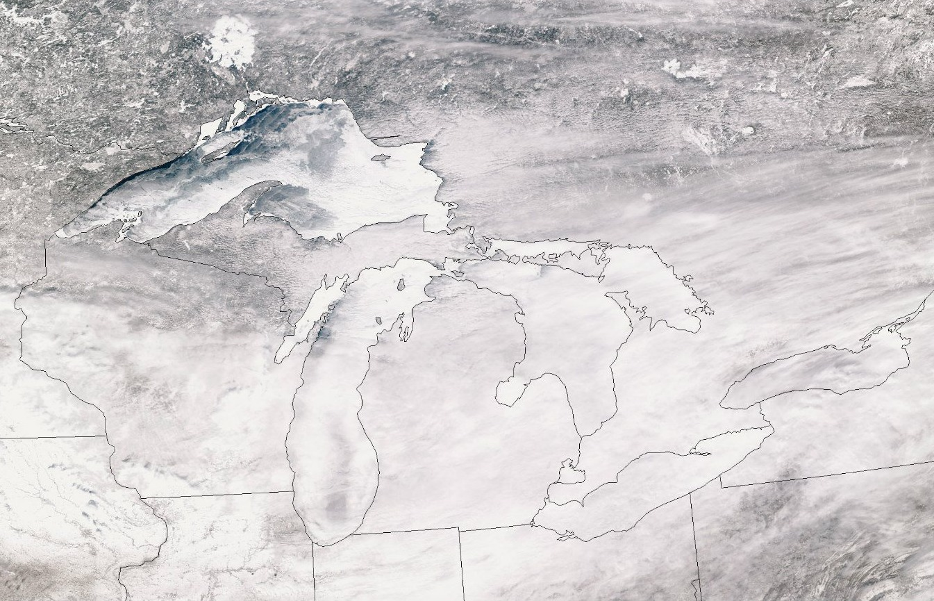 Great Lakes ice cover reaches 91 percent