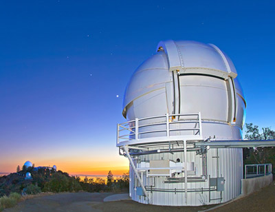 The Automated Planet Finder (APF) is the newest telescope at UC's Lick Observatory on Mt. Hamilton. (Photo by Laurie Hatch)