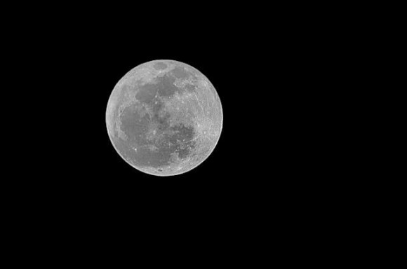 Mike Rininger: Tonight's moon at about 10:45pm in the Michigan sky.