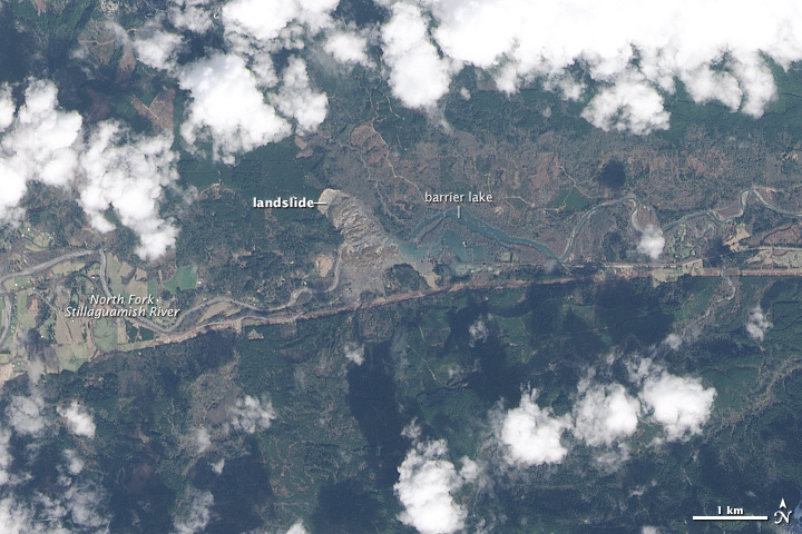 View from space: Washington landslide