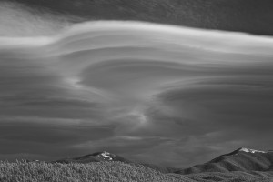 Lenticular clouds by Richard T. Hasbrouck.