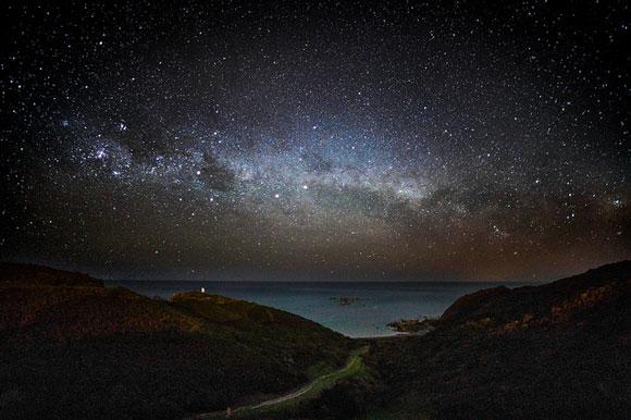 Milky Way, Wellington, New Zealand. Image Credit: Andrew Xu.