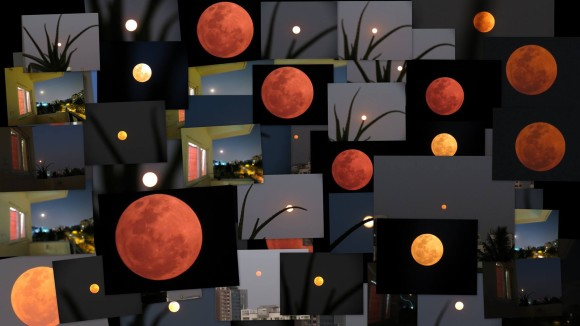 Kausor Khan: A collage of blood moon rising...