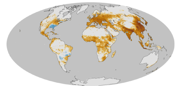 The global trail of fine particulate matter. Image credit: NASA