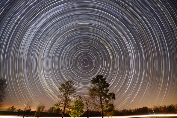 Ken Christison captured these glorious around Polaris, the North Star, on February 15, 2013.  He wrote,