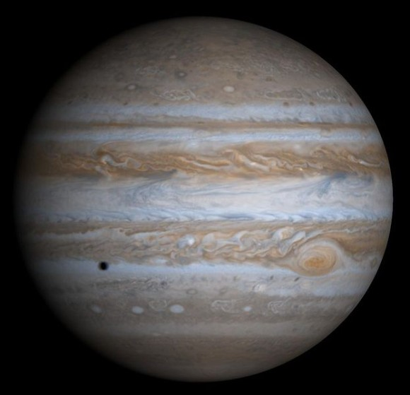 Jupiter is thought to have migrated inward toward the sun before retreating to its current position in the solar system. (Photo credit: NASA/Cassini)
