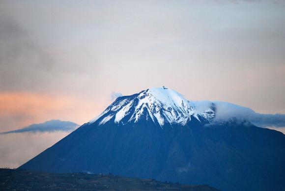 Tungurahua volcano in quieter times (September 11, 2011) via David Torres Costales / @DavoTC