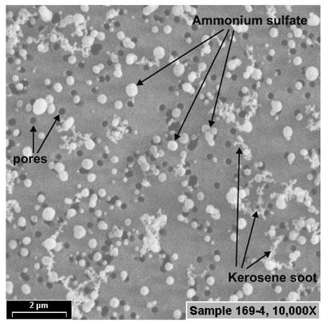 Microscopic image of aerosol particles. Image Credit: U.S. Dept. of Energy.