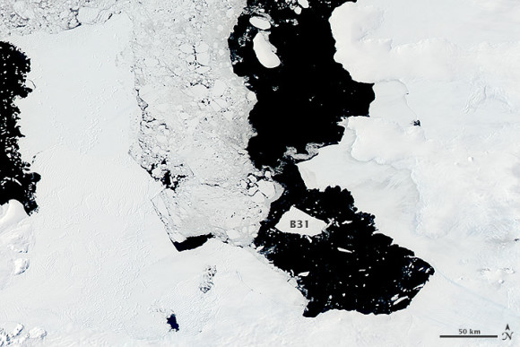 NASA has been using at least two satellites to track the massive floating ice chunk.