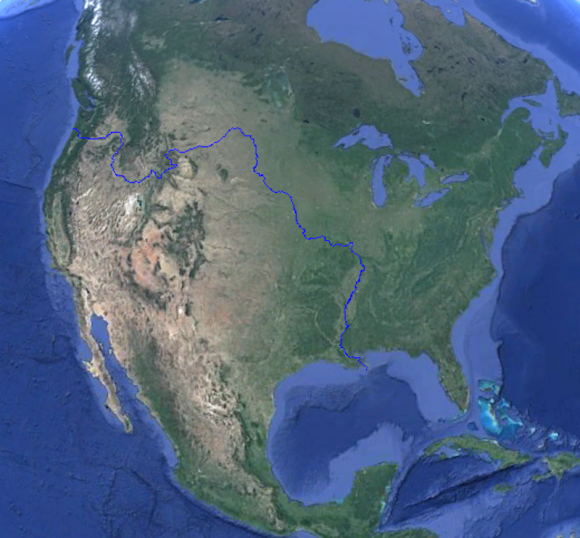 In theory, a fish can swim all the way across the continental U.S.