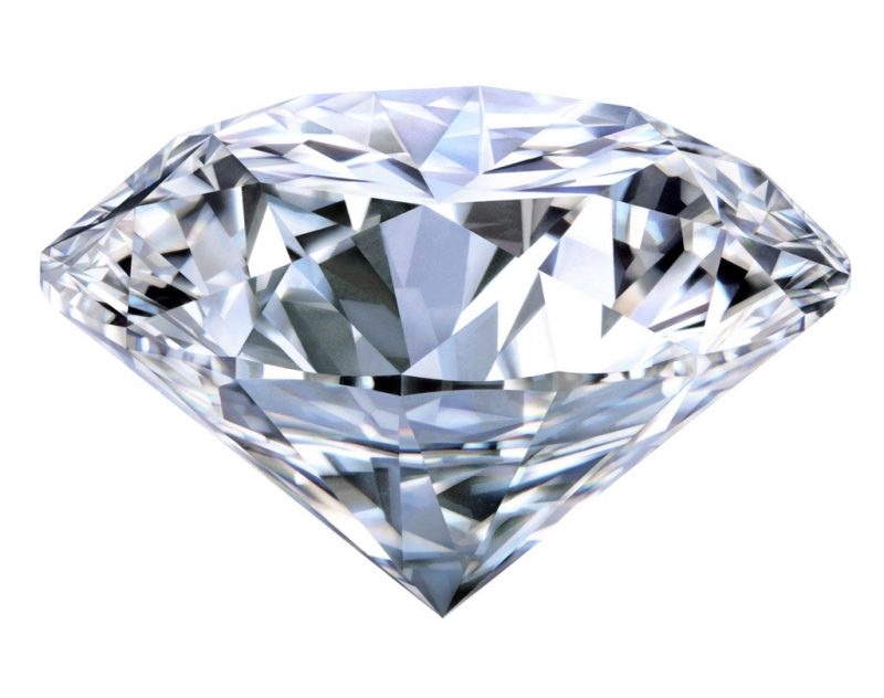 Side view of a large diamond.