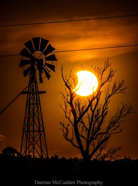 Damian McCudden Landscape Photography captured this photo of the setting sun in eclipse on April 29, 2014, as seen from Australia.  Thank you, Damian!  Visit Damian McCudden Landscape Photographer on Facebook.