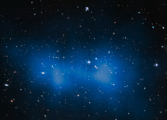 Biggest galaxy cluster bigger than thought