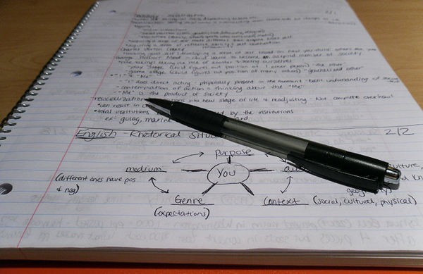 Old school notes. Image: English106.