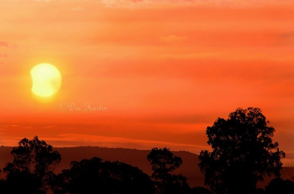 Partial solar eclipse. Taken at Casino, Northern NSW, Australia. By Dee Hardin