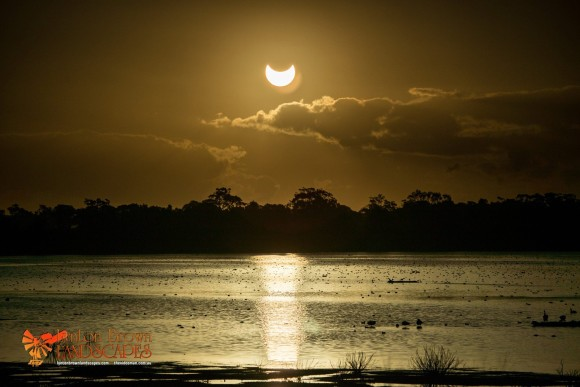 Partial Eclipse, Lake Natimuk near Horsham Australia 29/4/14. By Lynton Brown