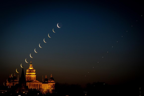 Brian Abeling created this time lapse sequence on the morning of April 27.  He wrote,