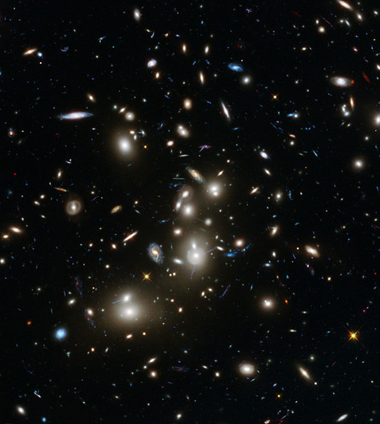 How did the matter in our universe come to be?  If Big Bang theory is correct, then  light transformed to matter in the early universe.  Two UK physicists say they now know how to test the theory of transforming light to matter, thereby gaining insight into the birth of our universe.  Read more about this image at Wikimedia Commons.